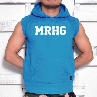 MR.HUGE MRHG LOGO CUT OFF  HARF SLEEVE SWEAT(ロゴ カットオフ ハーフ スリーブ スエット)ブルー