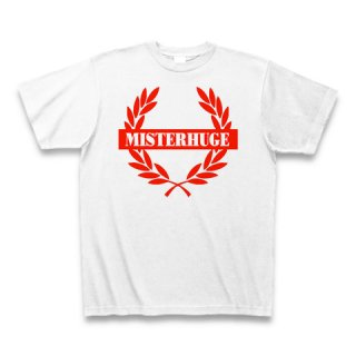 MR.HUGE EMBLEM LOGO PRINTED Tシャツ ホワイト