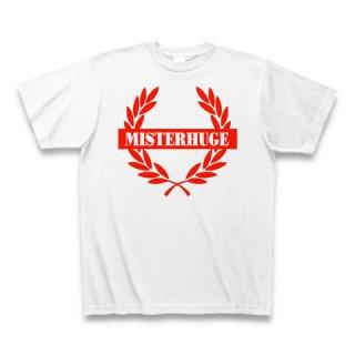 MR.HUGE EMBLEM LOGO PRINTED Tシャツ ホワイト×レッド