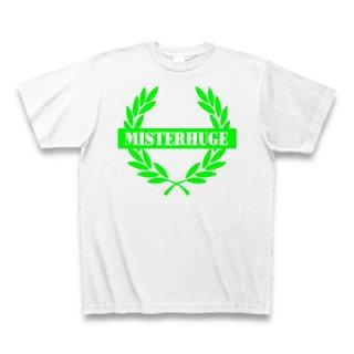 MR.HUGE EMBLEM LOGO PRINTED Tシャツ ホワイト×グリーン