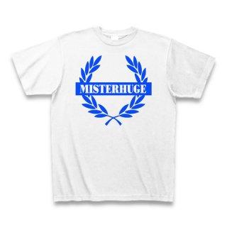 MR.HUGE EMBLEM LOGO PRINTED Tシャツ ホワイト×ブルー
