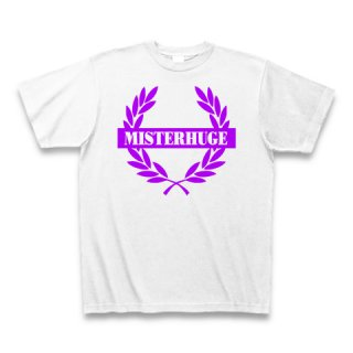 MR.HUGE EMBLEM LOGO PRINTED Tシャツ ホワイト×パープル