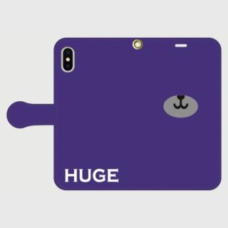 MR.HUGE BEAR NORSE(ベアーノーズ)PRINTED 手帳型 Android PhoneCASE ネイビー