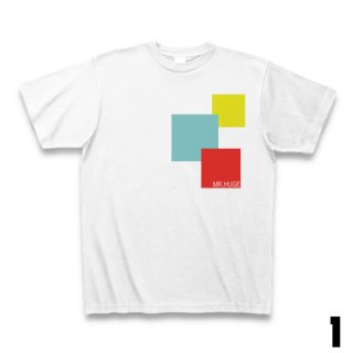 MR.HUGE SQUARE DESIGN ROGO PRINTED Tシャツ ホワイト