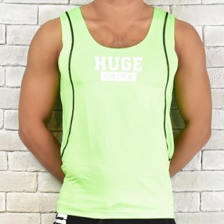 huge ATHLETE PRINTED CONVERSION STRETCH TANKTOP(アスリート プリント 切り替え ストレッチ タンクトップ)グリーン
