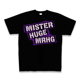 MR.HUGE ALL RANDOM ROGO PRINTED Tシャツ ブラック