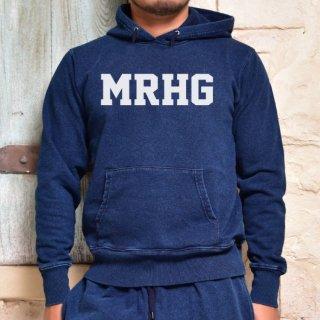MR.HUGE MRHG ROGO DENIM WASH FOODED PAKA (ロゴ デニムウォッシュ フード パーカー)