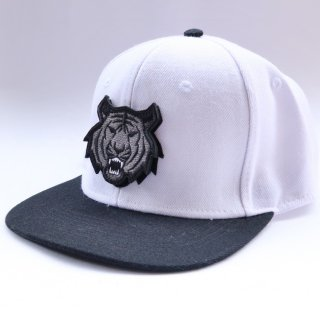 MR.HUGE TIGER WAPPEN 6PANEL CAP(タイガー ワッペン 6パネル キャップ)ホワイト