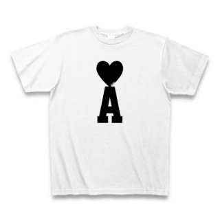 MR.HUGE HEART ON INITIAL(ハート オン イニシャル)PRINTED Tシャツ ホワイト