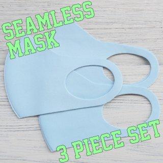 【即納】SELECT Polyurethane seamless MASK 3pieceSET(ポリウレタン シームレス マスク 3点セット)ブルー