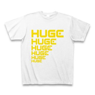 MR.HUGE LINE HUGE ROGO(ライン HUGE ロゴ)PRINTED Tシャツ ホワイト