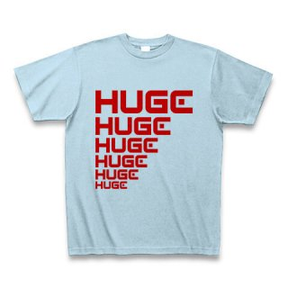 MR.HUGE LINE HUGE ROGO(ライン HUGE ロゴ)PRINTED Tシャツ ライトブルー