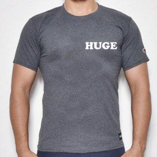 MR.HUGE POP HUGE ROGO PRINTED champion(ポップ HUGE ロゴ チャンピオン)Tシャツ グレー