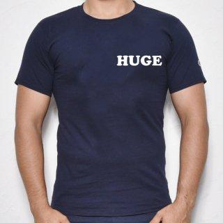 MR.HUGE POP HUGE ROGO PRINTED champion(ポップ HUGE ロゴ チャンピオン)Tシャツ ネイビー