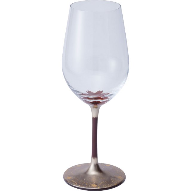 漆絵ワイングラス 桜