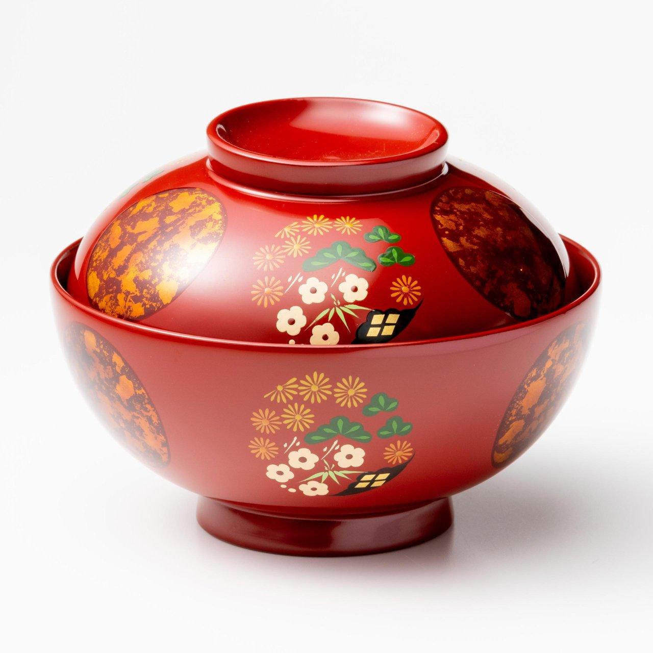 煮物椀 花丸