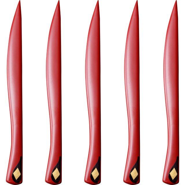 ナイフ 赤 5本セット