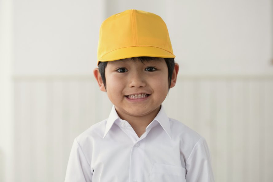 通学用黄色野球帽子(男の子用)