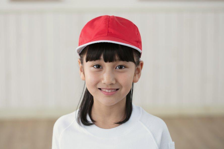 紅白帽子(女の子用)