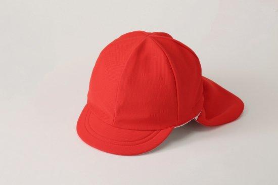 遮熱タイプ フラップ付 紅白帽子