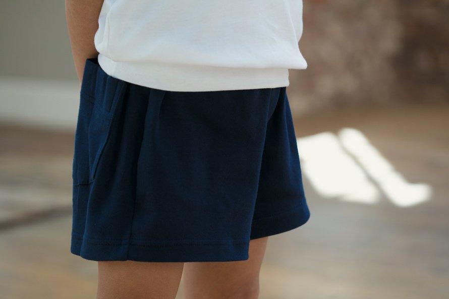 日本製 綿100% 体操服 ズボン パンツ ショート丈 (濃紺・エンジ・花紺)[素材]綿100%||