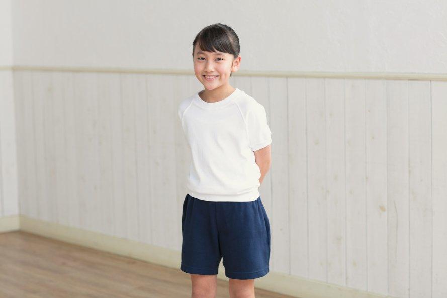 半袖体操服 日本製 丸首タイプ[素材]綿100%||
