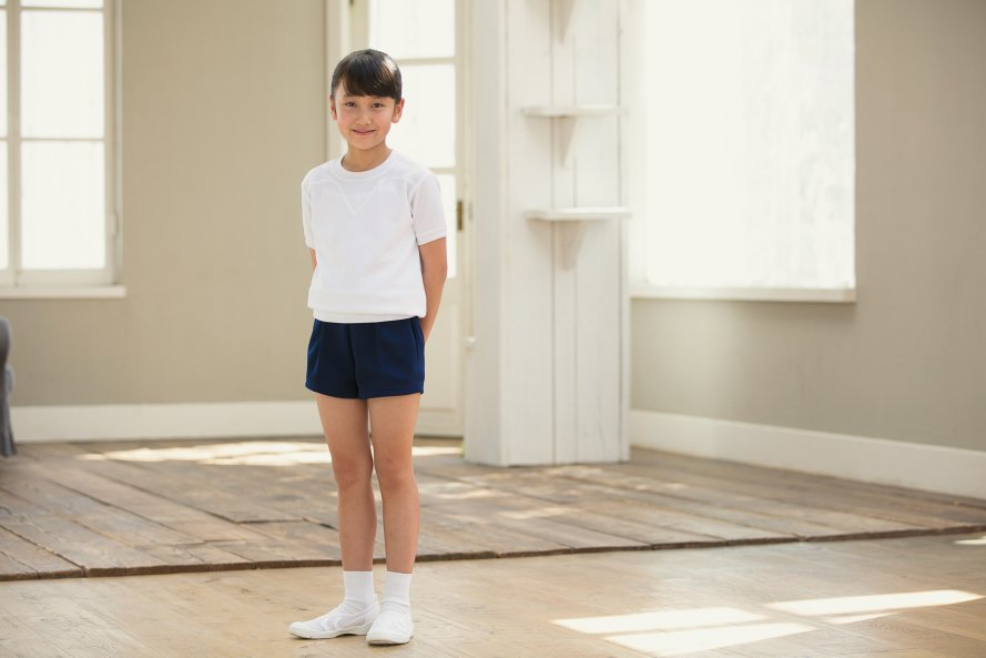 紺色 体操服 ズボン パンツ ショート丈[素材]ポリエステル100%||