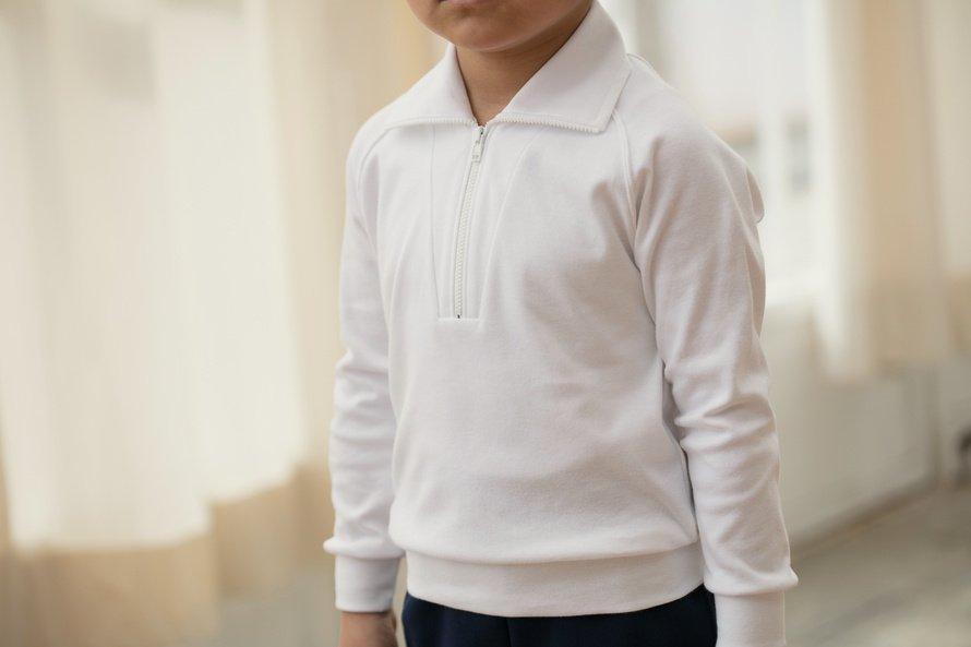 日本製で敏感肌向けの長袖シャツ ジップタイプ