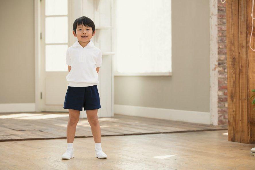 半袖体操服 綿100%・日本製(ジップ付半袖シャツ)