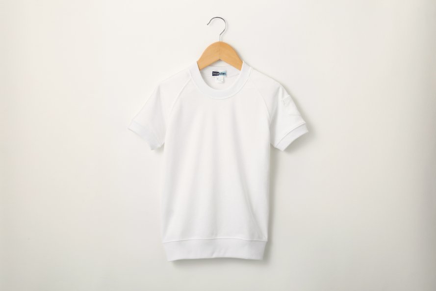 乾きやすい 半袖シャツ 丸首タイプ