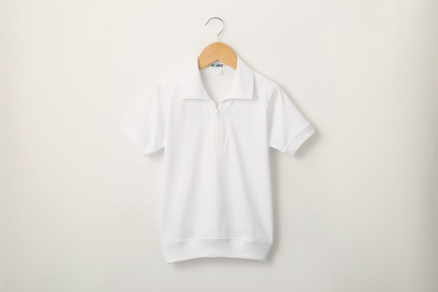 半袖体操服 部屋干し臭対策(ジップ付半袖シャツ)