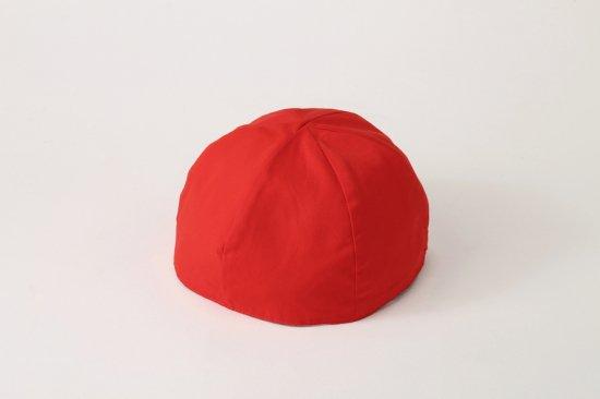 つば無し 紅白帽子