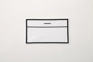 ストレッチゼッケン(中/7cm×12cm)【アイロン圧着ノリ付き】