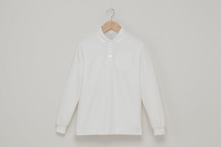 女児 長袖ポロシャツ(吸汗速乾・形態安定)