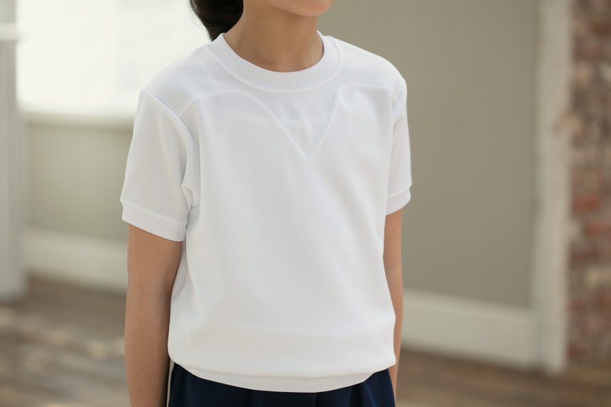 汚れにくい 半袖シャツ 切替(ヨーク)タイプ