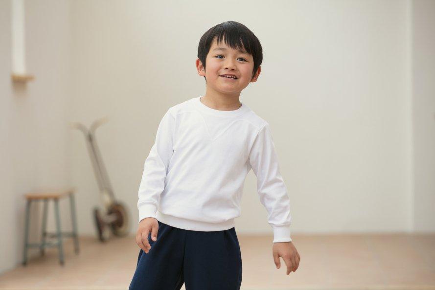 乾きやすい 長袖体操服 切替(ヨーク)タイプ[素材]綿60%|ポリエステル40%|