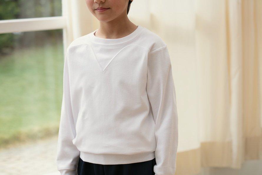 日本製 敏感肌向け 長袖シャツ 切替(ヨーク)タイプ