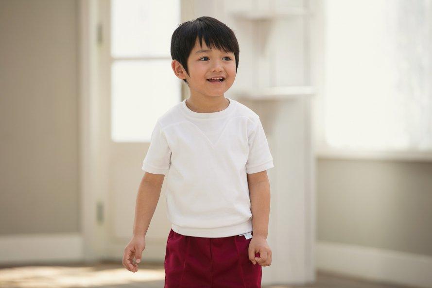 日本製 敏感肌向け 半袖シャツ 切替(ヨーク)タイプ