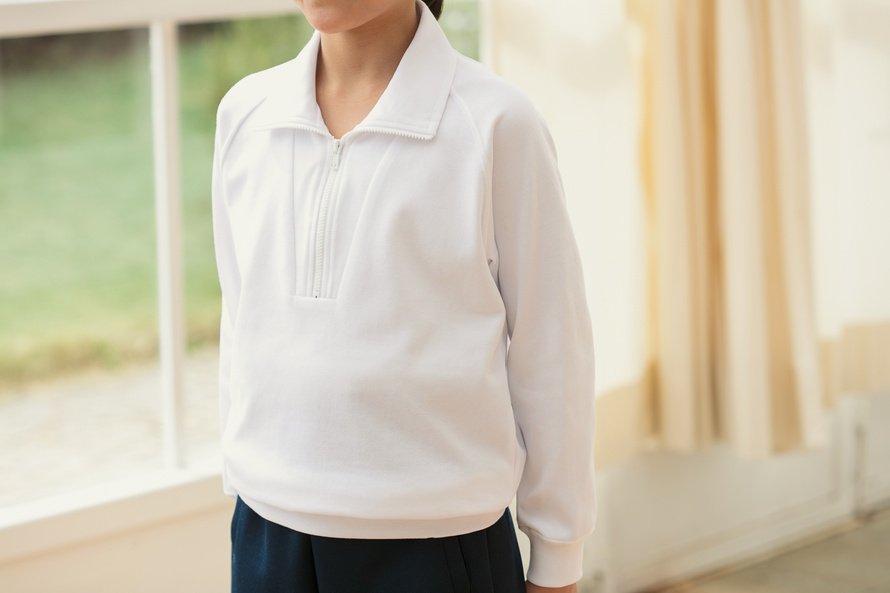 ニオイを防ぐ長袖シャツ ジップタイプ