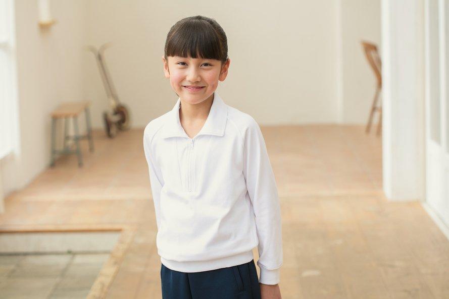 ニオイを防ぐ 長袖体操服 ジップタイプ[素材]綿60%|ポリエステル40%|