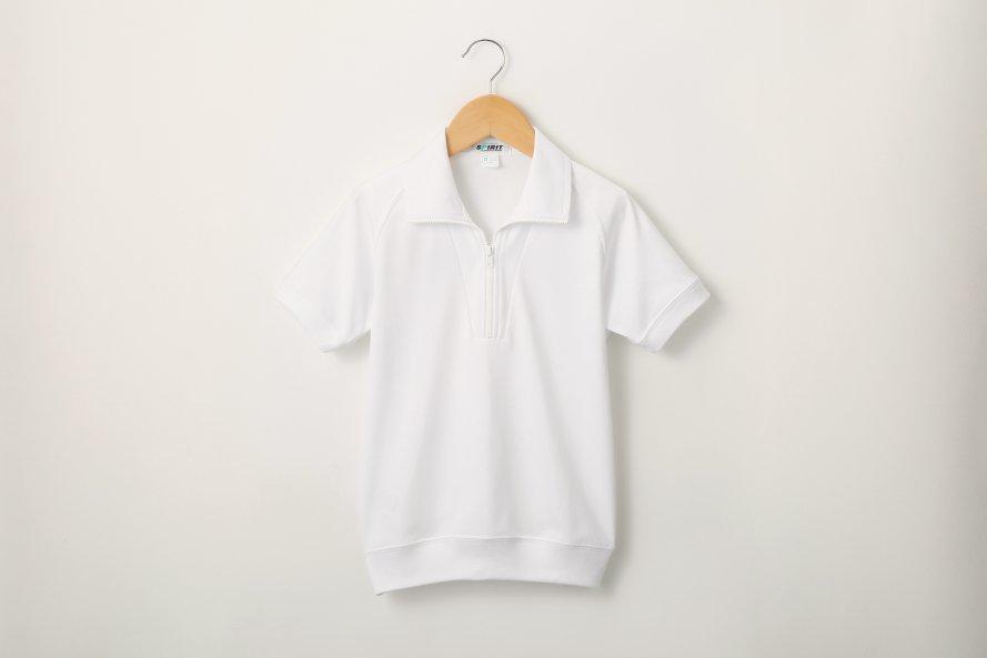 半袖体操服 抗菌・防臭対策(ジップ付半袖シャツ)