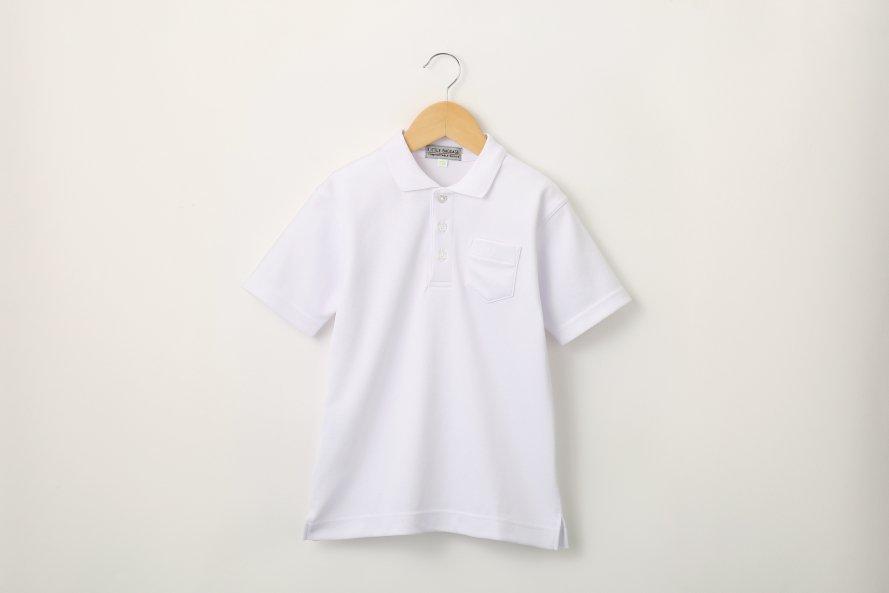 男児 白さ長持ち半袖ポロシャツ(防汚・速乾)
