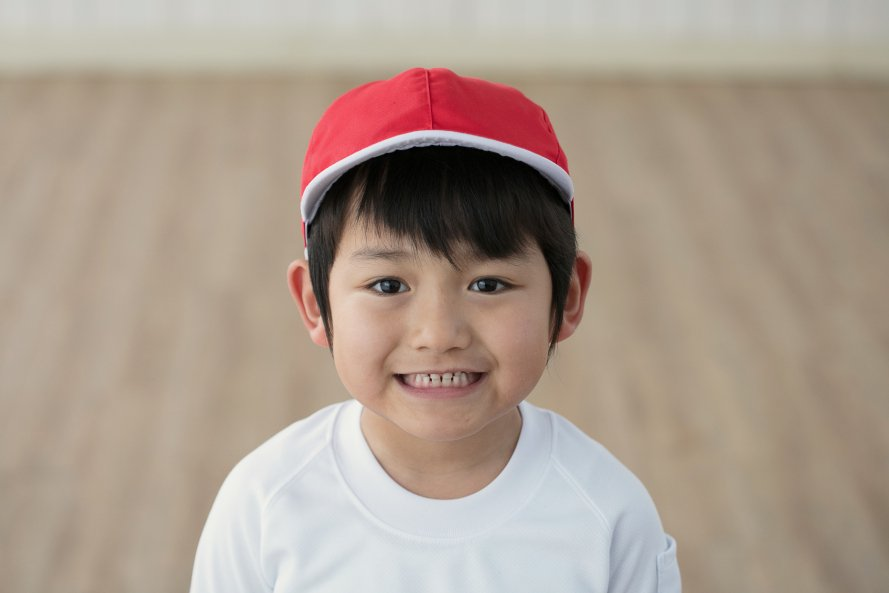 紅白帽子(男の子用)