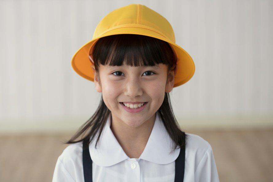 通学用黄色帽子(女の子用)