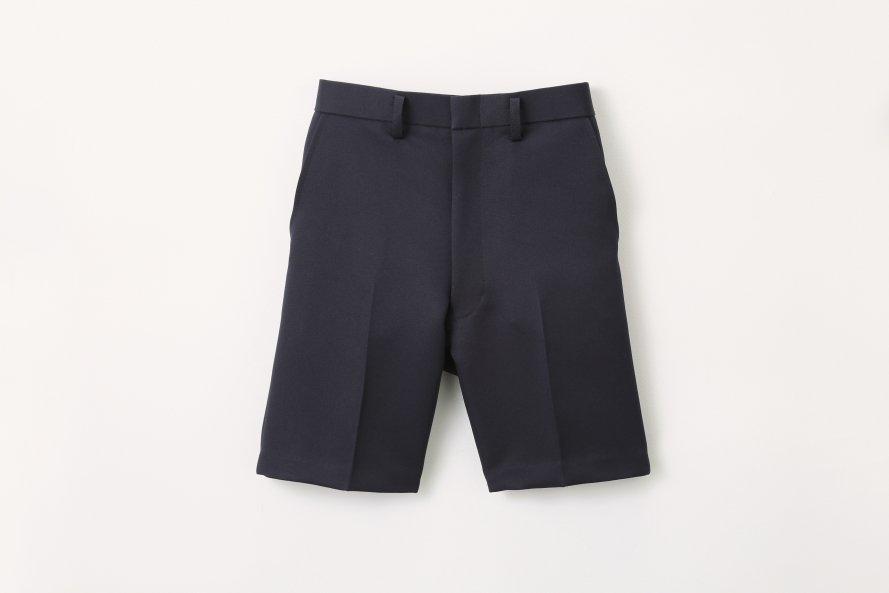 丈長タイプ 夏用半ズボン【紺色(ネイビー)】[素材]ポリエステル100%||