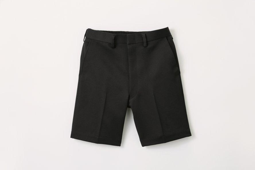 丈長タイプ 夏用半ズボン【黒色(ブラック)】[素材]ポリエステル100%||