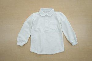 女児用丸衿長袖ポロシャツ (刺繍付)