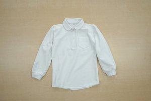女児用丸衿長袖ポロシャツ