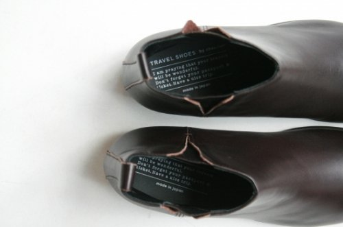 TRAVEL SHOESサイドゴアブーツ〈dark brown〉