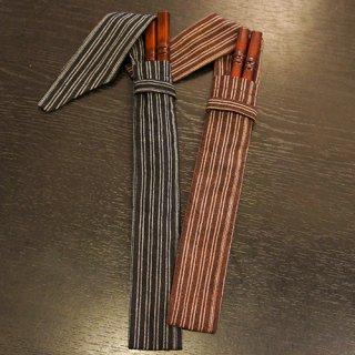 新潟漆器 萬代箸 竹塗り(茶)長 ※男性向き